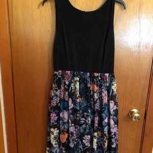 Black and floral maxi